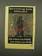1947 U.S. Savings Bonds Ad - Buy Regularly
