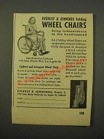 1947 Everest Jennings Folding Wheel Chairs Ad