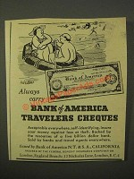 1947 Bank of America Travelers Cheques Ad