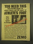 1947 Zemo Ointment Ad - Relieve Misery
