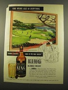 1946 King Blended Whisky Ad - art by Harrison F. Miller