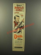 1946 Duel in the Sun Movie Ad - Gregory Peck