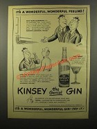 1946 Kinsey Gin Ad - William Steig - Wonderful Feeling