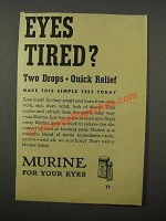 1946 Murine for Your Eyes Ad - Eyes Tired?
