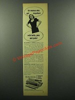 1945 Tampax Tampons Ad - For Women Who Get Impatient