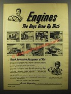1944 Chrysler Engines Ad - The Boys Grew Up With