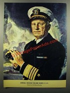 1943 Admiral Chester William Nimitz Illustration