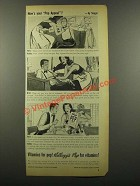 1942 Kellogg's Pep Cereal Ad - Your Pep Appeal - Siegel