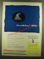 1942 Liberty Emblem Ad - Live on My Knees? Never!