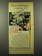 1942 Dixon Ticonderoga Pencil Ad - A Fighting Word