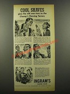 1941 Ingram's Shaving Cream Ad - Cool Shaves