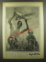 1941 Agfa Film Ad - Model Plane, Model Picture