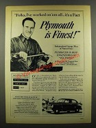 1941 Plymouth Cars Ad - I've Worked on 'Em All