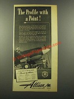 1941 GM Allison Aircraft Engine Ad - Profile With Point