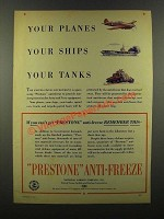 1941 Prestone Anti-Freeze Ad - Your Planes Your Ships