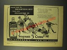 1941 Seagram's 5 Crown Whiskey Ad - Pleasure In