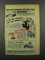 1941 Kleenex Tissues Ad - Tell Me Another
