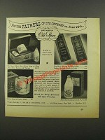 1941 Old Space Toiletries Ad - Fathers of Our Country