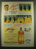 1940 Seagram's 5 Crown Whiskey Ad - Joe Falcaro