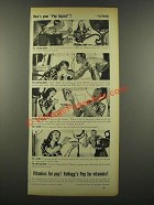 1940 Kellogg's Pep Cereal Ad - Pep Appeal - by Bundy