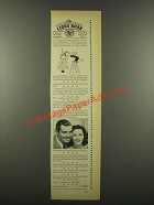 1940 MGM Comrade X Movie Ad - Clark Gable, Hedy Lamarr