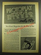 1940 Photoplay Magazine Ad - Combined with Movie Mirror