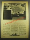 1940 Ford Motor Company Ad - Anchors Away on Ford Fleet