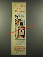 1940 Old Mr. Boston Apricot Nectar Ad - Smooth as Honey