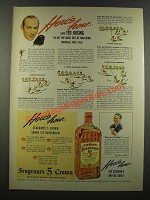 1940 Seagram's Five-Crown Whiskey Ad - Ted Husing