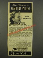 1940 Zonite Zonitors Ad - Advance in Feminine Hygiene