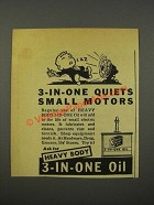 1940 3-in-one Oil Ad - Quiets Small Motors