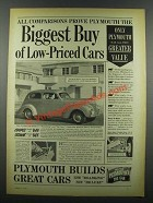 1939 Plymouth Car Ad - Biggest Buy of Low-Priced Cars