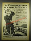 1939 Ford Motor Company Ad - Takes the Guesswork Out