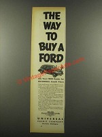 1939 Universal Credit Company Ad - Way to Buy a Ford