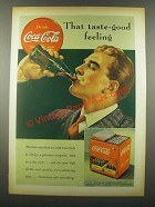 1939 Coca-Cola Soda Ad - That Taste-Good Feeling