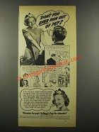 1939 Kellogg's Pep Cereal Ad - Don't You Ever Run Out