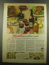 1939 Wine Advisory Board Ad - Your Festive Meals