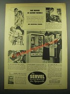 1939 Servel Electrolux Gas Refrigerator Ad - No Noise