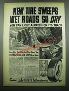 1939 Goodrich Safety Silvertown Tires Ad - Wet Roads
