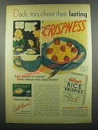 1939 Kellogg's Rice Krispies Cereal Ad - Dads Cheer