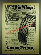 1939 Goodyear G-3 All-Weather Tires Ad - Upped Mileage