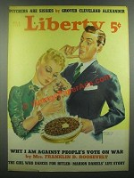 1939 Liberty Apr. 8, 1939 Cover - Dog Eating Chocolates