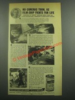 1939 Eveready Battery Ad - No Cameras Turn
