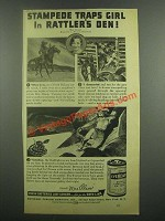 1939 Eveready Battery Ad - Stampede Traps Girl