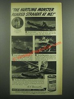 1939 Eveready Battery Ad - The Hurtling Monster Roared