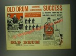 1939 Old Drum Whiskey Ad - Scoring Sensational Success