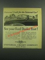 1939 Universal Credit Company ad - See Ford Dealer