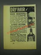 1939 Lucky Tiger Hair Tonic Ad - Dry Hair