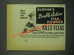 1939 Glover's Double Action Flea Powder Ad - Pet Relief