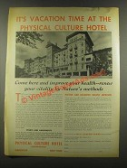 1937 Physical Culture Hotel Ad - It's Vacation Time